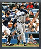 "Ken Griffey Jr. Seattle Mariners MLB Action Photo (Size: 12"" x 15"") Framed"