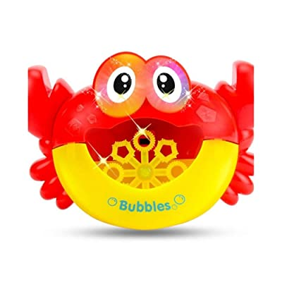 JiaJa Outdoor Bubble Machine Blower Gun Frog Crabs Baby Kids Bath Maker Swimming Bathtub Soap Water Toys for Children with Music,Crab Without Box: Toys & Games