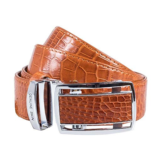 Authentic Sefaro Crocodile Skin Men's Big Hornback Belt 40 ()