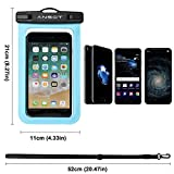 """Universal Waterproof Case - Ansot IPX8 Waterproof Phone Pouch - Cellphone Dry Bag for iPhone X/8/ 8plus/7/7plus/6s/6/6s plus Samsung galaxy s8/s7 Google Pixel 2 HTC LG Sony MOTO up to 7.0"""" -- 2 PACK"""