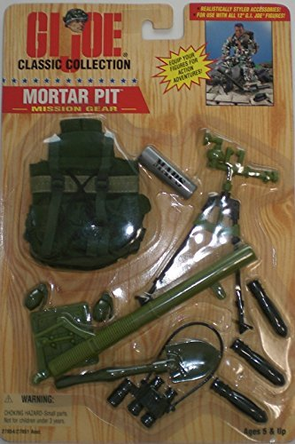 Gi Joe 12' Accessories - Hasbro 1/6 Scale 1996 GI Joe Mission Gear Mortar Pit for 12 inches Action Figure