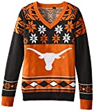 FOCO Texas Womens Big Logo V-Neck Sweater Large