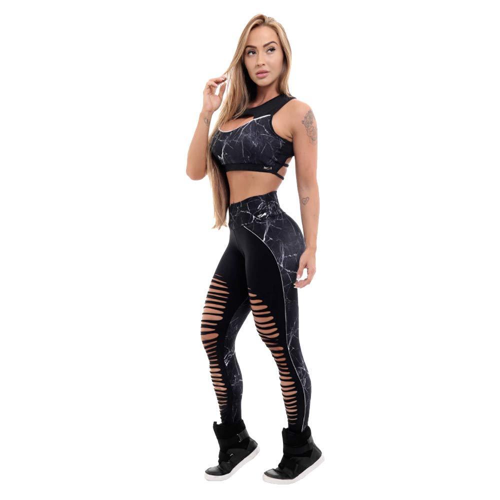 NUWFOR Yoga Pants for Women, High Waisted Power Mesh Workout Running Exercise Leggings Pants Black for Winter/Full(Black,M) by NUWFOR (Image #3)