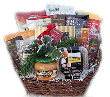 Holiday Office Suite Healthy Christmas Gift Basket: Amazon.com ...