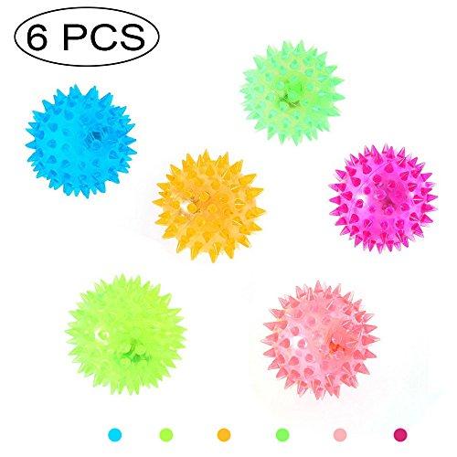 6PCS Flashing Spiky Ball For Pre-Kindergarten Toys,Message Ball With LED Light Up,Bounce Press Sensory Fidget & Stress Relief Sensory Balls, Hard & Soft Combo , For Kids, Adults, Pet Color Randomly]()