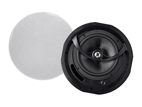 Monoprice Alpha In Ceiling Speakers 8 Inch Carbon Fiber 2-way (pair) - 113683 by Monoprice