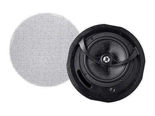 Monoprice Alpha In Ceiling Speakers 8 Inch Carbon Fiber 2-way (pair) - 113683 (In 8 Ceiling Speakers)