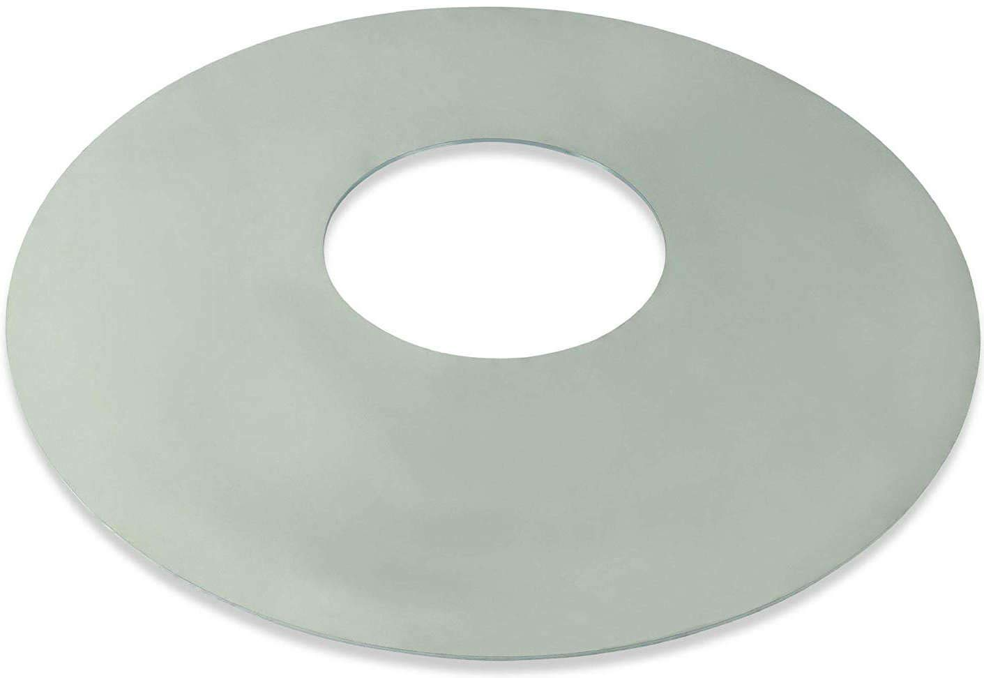 Plancha para parrilla redonda de 57 cm I Plancha para parrilla redonda de 57 cm I Anillo de parrilla anillo de fuego 55 cm I acero disco de barbacoa