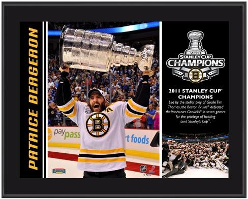 - Boston Bruins Patrice Bergeron 2011 Stanley Cup Champions Plaque - NHL Player Plaques and Collages
