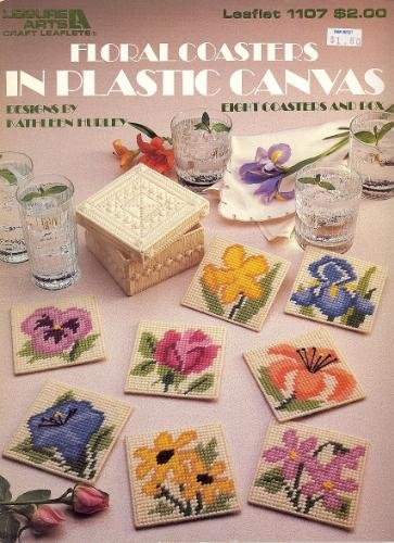 - Floral Coasters in Plastic Canvas (Eight Coasters and Box) (Leisure Arts Leaflet #1107)