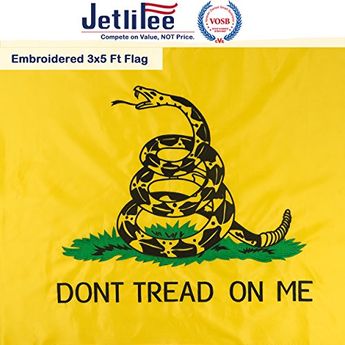 Jetlifee Gadsdent Flag 3 x 5 Ft Don't Tread On Me Flags by