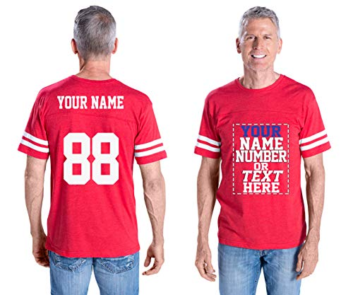 Custom Cotton Jerseys - Make Your OWN Jersey T Shirts - Personalized Team Uniforms for Casual Outfit Red