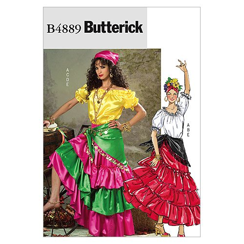 Butterick Costumes Halloween Patterns Sewing (Butterick Patterns B4889 Misses' Costume, Size Y)