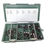 Oetiker Stepless OET070157-60PCK Clamp Assortment Case, Ear Clamps, Single Ear Hose Clamps without Pincers, 1/4