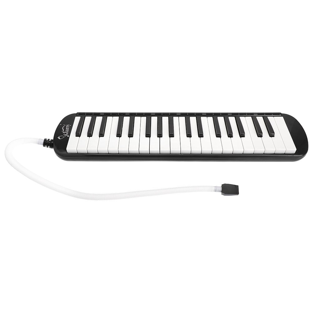 Glarry 37-Key Melodica with Mouthpiece & Hose & Bag Black by funning (Image #1)