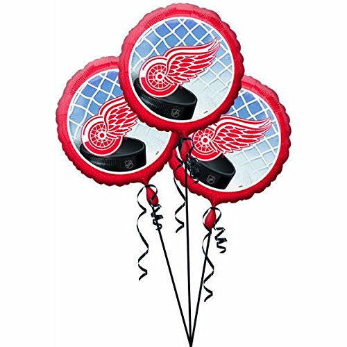 amscan Detroit Wings Foil Party Balloons (3 Pack), 18