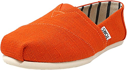 Collection Footwear - TOMS Women's The Venice Collection Shoes Tangerine Heritage Canvas 9.5