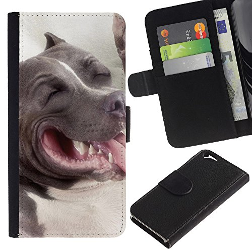 EuroCase - Apple Iphone 6 4.7 - American pit bull terrier dog - Cuir PU Coverture Shell Armure Coque Coq Cas Etui Housse Case Cover
