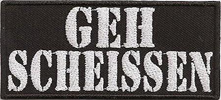 Geh Scheissen N Scheiss Rocker Biker Heavy Metal Patch Aufnäher Abzeichen Küche Haushalt