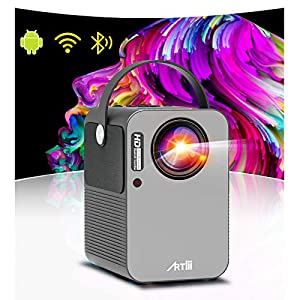 Artlii Play Projector Android TV 9.0 Smart Projector Portable WiFi Bluetooth Full HD 1080p Support Dolby 4D ±45…
