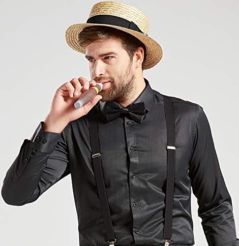b6873d42dcffa5 ArtiDeco Straw Boater Hat Mens 1920s Mens Gatsby Hat Panama Straw Sun Hats  Men Roaring 20s Costume Accesories for Men