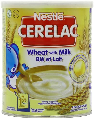 Nestle Cerelac Stage 1 From 6 Months Wheat with Milk 400 g (Pack of 4): Amazon.es: Electrónica