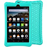 LTROP Tablet Case for All-New Fire HD 8 2018 / 2017 - Light Weight Shock Proof Soft Silicone Kids Friendly Case for All-New Fire HD 8 Tablet (7th Generation, 2017 Release & 8th Generation, 2018 Release) ,Turquoise