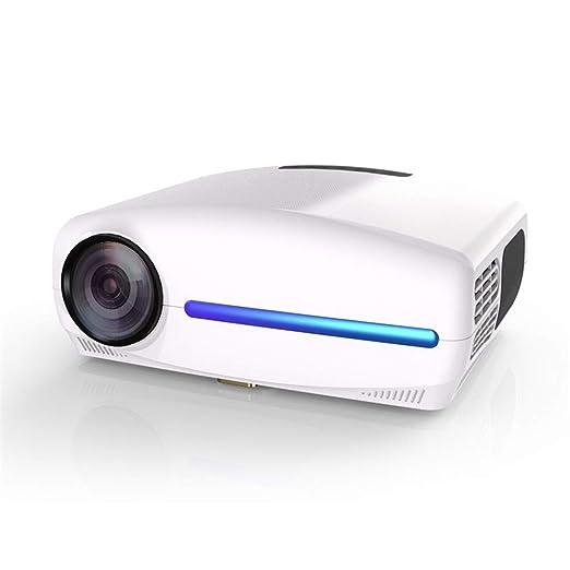 QinLL Mini proyector Portable 1080p Video proyector para el hogar ...