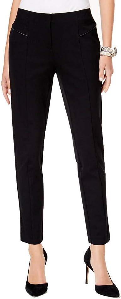 ALFANI NEW Women/'s Black Stretch Comfort Waist Skinny Pants TEDO