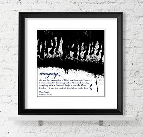 Imagery Stock (Imagery, Literary Term Poster, The Jungle, Black and White, Abstract/Minimalist Art, Quote Poster for Classroom, Library or Home)
