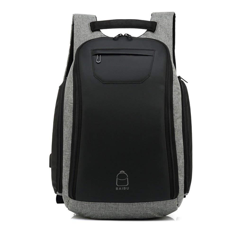 HX fashion ラップトップノートブックバックパックUsb充電ポート32Lバッグまでラップトップ用15 6インチ防水スクールバッグ作業用バッグ職場のコンピューター用学校Uni Travel Black) One Size Colour B07R231QXB