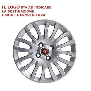 741.15 Set 4 Cups Studs copponi Fiat Grande Punto 08 >/EVO Circles Wheel Trims Cover Cup Wheels Farad: Amazon.co.uk: Car & Motorbike