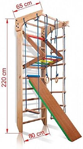 Escalera Sueca Barras de Pared Kinder-3-220-COLOR, Gimnasia de los niños en casa, Complejo Deportivo de Gimnasia: Amazon.es: Juguetes y juegos