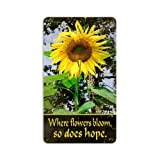 Past Time Signs Sunflower Garden Metal Sign