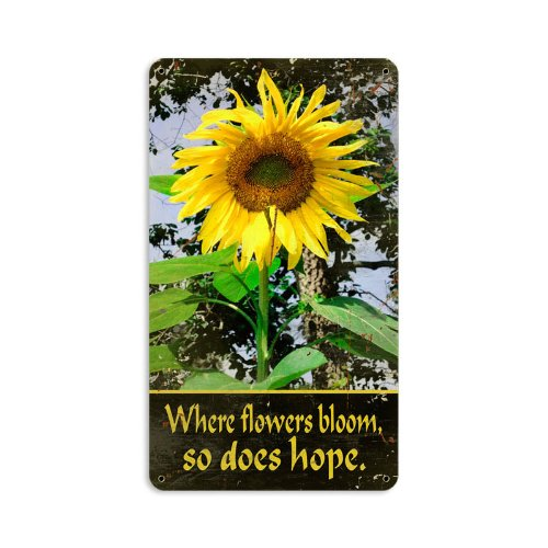 Sunflower Metal Sign Wall Decor - sunflower wall art decor