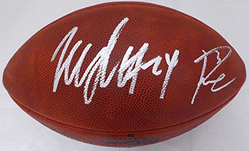 Autographed Lynch Football Marshawn - Russell Wilson & Marshawn Lynch Autographed Limited Edition Super Bowl XLVIII Leather Football Seattle Seahawks RW & ML Holo Stock #130464