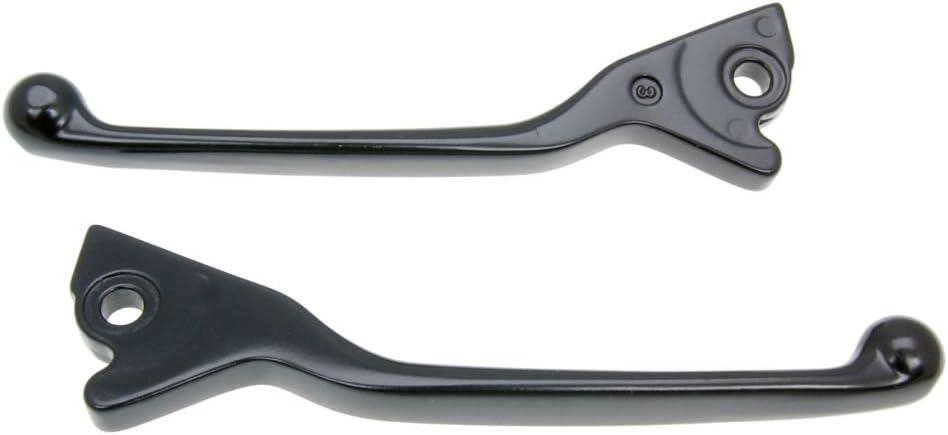 f/ür VESPA GTS Super Sport i.e schwarz 300 ZAPM45200 4T LC 10 Sporthebel Set SIP STYLE Aluminium CNC