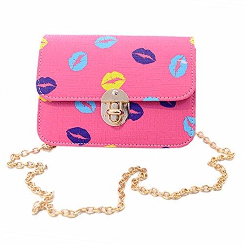 Big Mouth Women Handbag Shoulder Bags Tote Purse Lady Messenger Crossbody Bag (color: Pink)