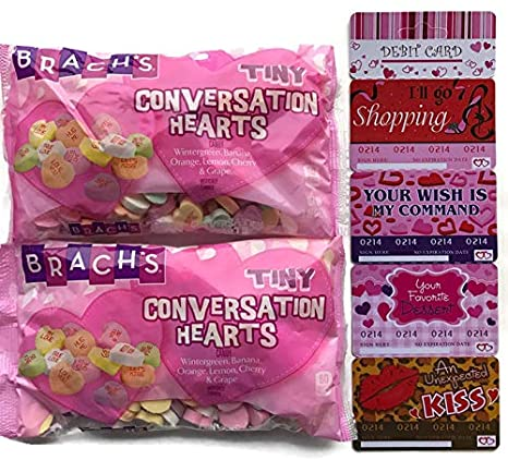 Brachs Conversation Hearts - Bolsa de 2 unidades, diseño de ...