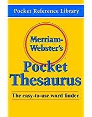 Merriam-Webster's Pocket Thesaurus: The easy-to-use word finder