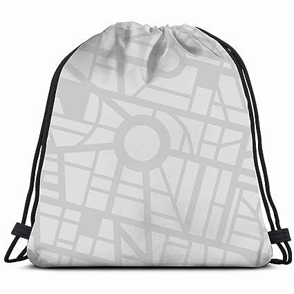 22d7223b1d Amazon.com   City Map Transportation Drawstring Backpack Bag ...