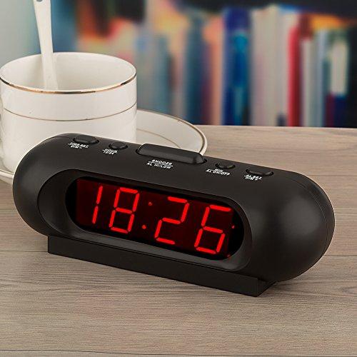 Kwanwa Portable 110 DB Super Loud Digital LED Alarm Clock For Bedrooms New