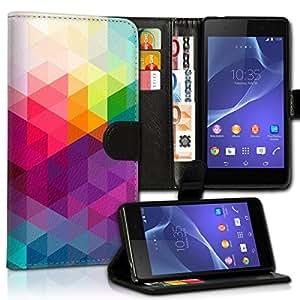 Wallet Wicostar–Funda Case Funda Carcasa diseño Funda para Samsung Galaxy S6Edge SM–sm-g925–Diseño Flip mvd107