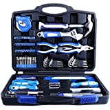 Tool Kit. Best Portable Big Basic Starter Professional Household DIY Hand Mixed Repair Set W/Plastic Storage Toolbox Case For Home, Garage, Office For Men, Women. Includes Screwdriver, Pliers, Etc.