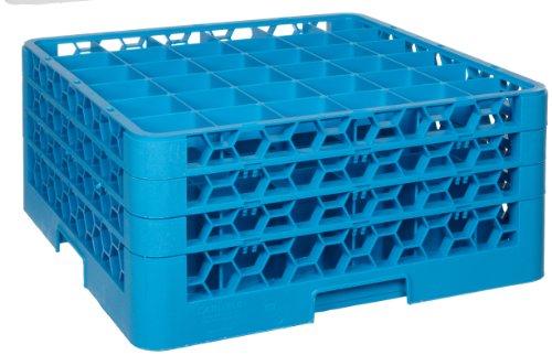 (Carlisle RG16-214 OptiClean 16-Compartment Glass Rack w/ 2 Extenders, Polypropylene, 20.88