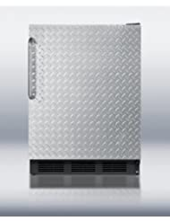 FF6B7DPL 5.5 cu. ft. All-Refrigerator With Diamond Plate Door Automatic Defrost Hidden Evaporator