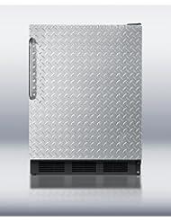 FF6B7DPL 5.5 cu. ft. All-Refrigerator With Diamond Plate Door Automatic Defrost Hidden Evaporator