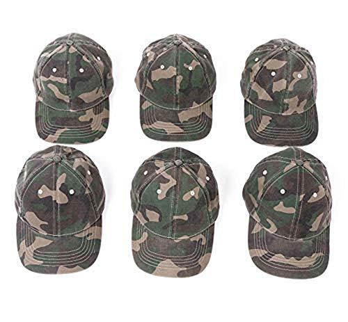 Infinity Headwear Ladies Fatigue Camo Wash Cap 6 Pack