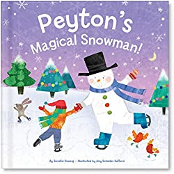 personalized childs christmas book my magical snowman i see me