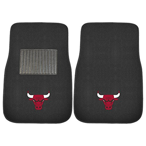 Nba Mats (FANMATS 17610 NBA Chicago Bulls 2-Piece Embroidered Car Mat)